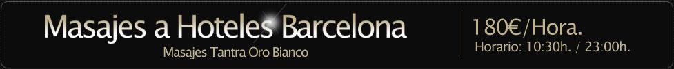 masajes hoteles Barcelona